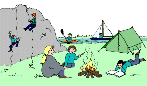 outdoor clipart scout camp 9